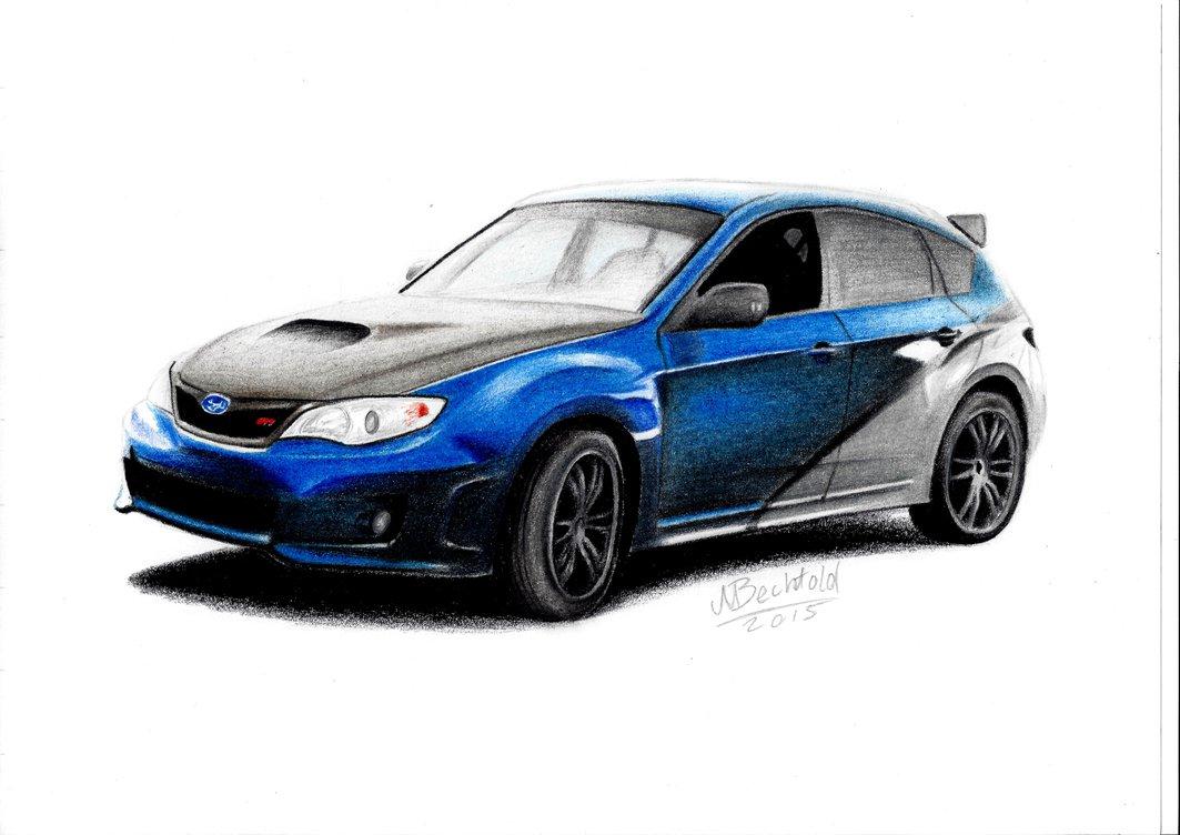 1063x752 Subaru Impreza Wrx Sti Fast Furious 7 Car Drawing By Maxbechtold