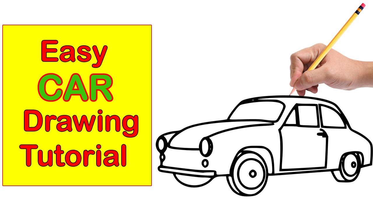 1280x720 Car Drawing Step By Step Easy Tutorial For Kids