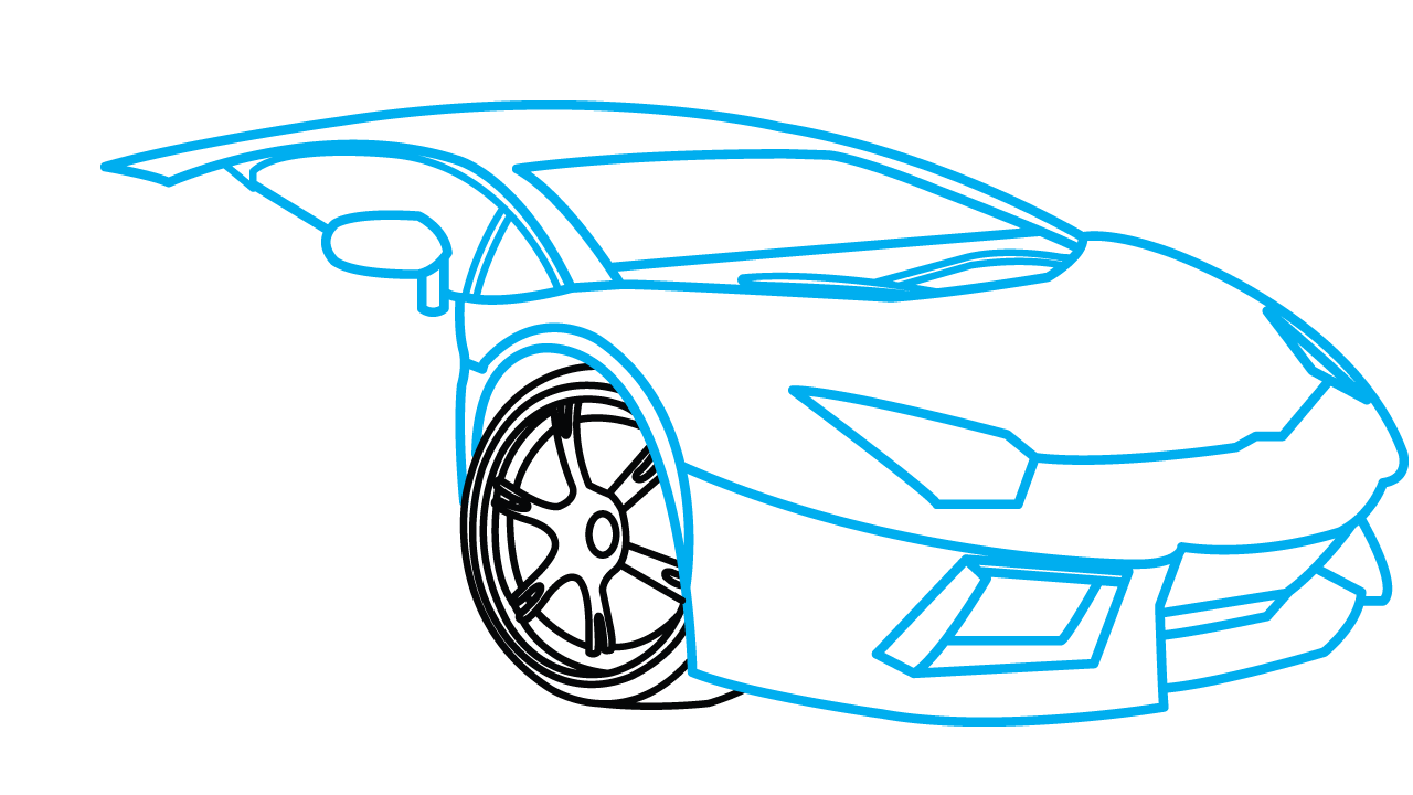 1280x720 How To Draw Lamborghini Aventador, A Car, Easy Step By Step