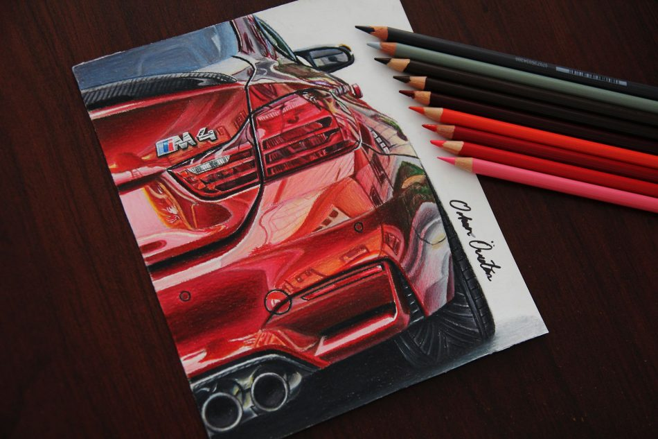 950x633 This Guy Creates Hyper Realistic Car Drawings And It's Awesome