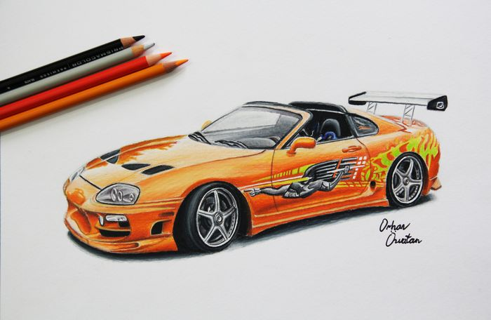 700x456 Toyota Supra The Fast And The Furious Car Drawing By Me