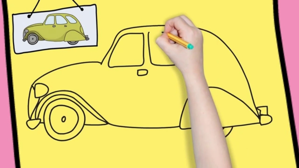 1024x576 Easy Drawings Of Cars How To Draw A Car Easy For Kids Simple