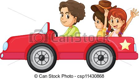 450x255 Illustration Of A Kids And A Car On A White Background Clip Art