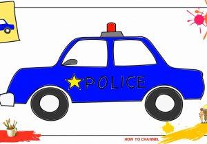 300x210 Police Car Drawing