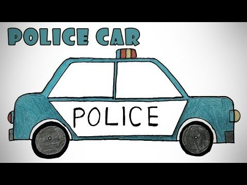 480x360 How To Draw A Police Car Easy Step By Step Drawing For Kids