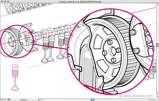 550x350 Automotive Illustration Tutorial How To Draw A Car Cutaway.