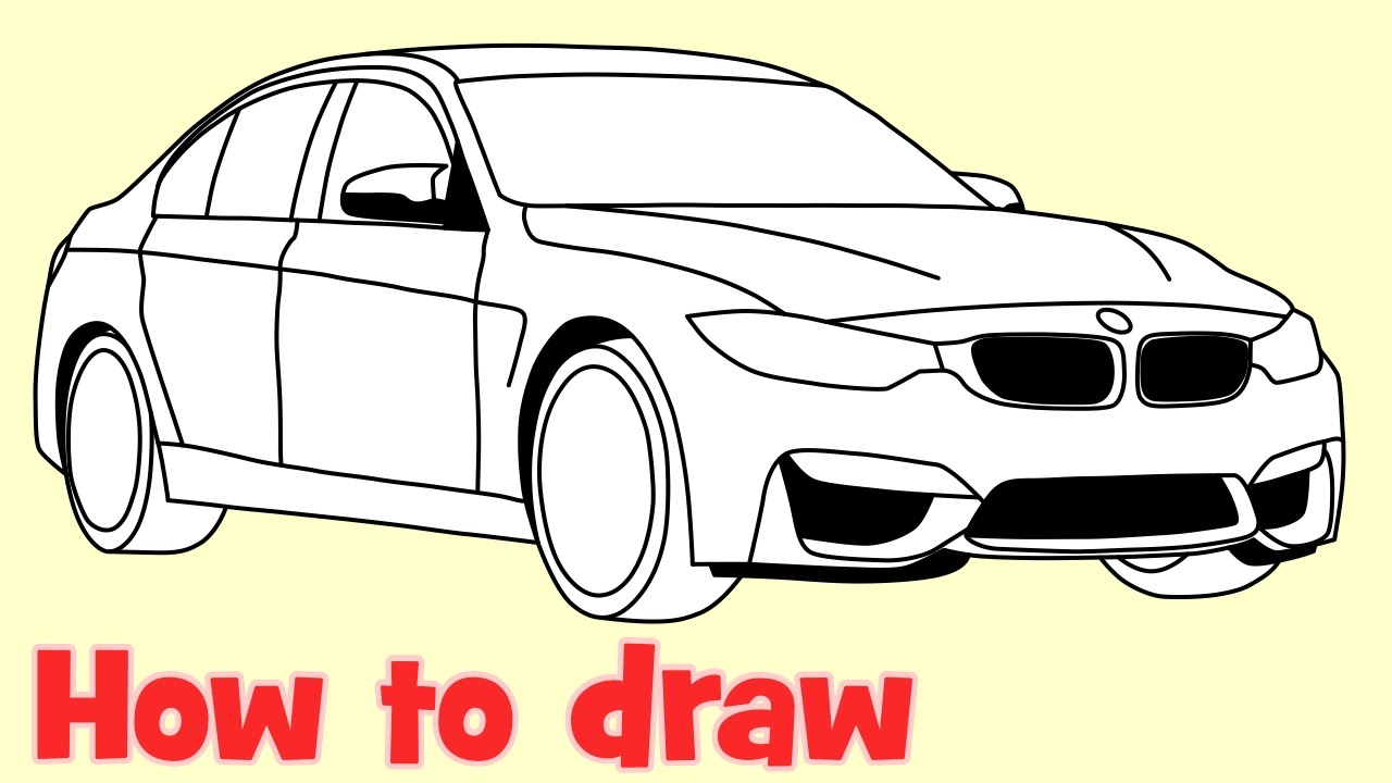1280x720 How To Draw A Car Bmw M3 Sedan Step By Step Drawing