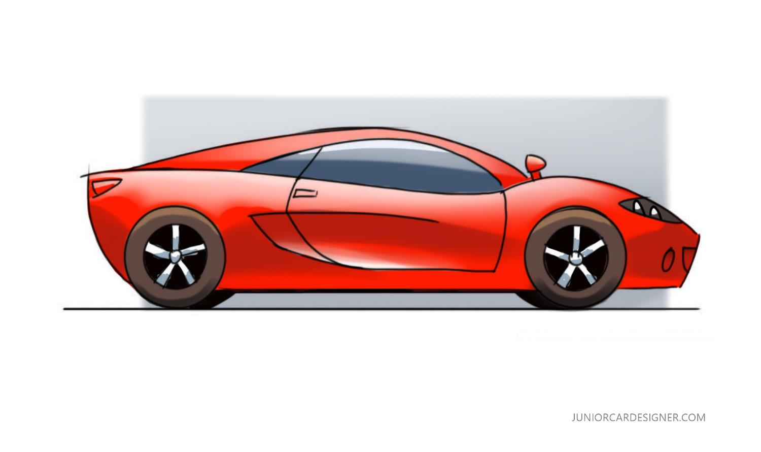 1500x890 Sports Car Digital Coloring Junior Car Designer