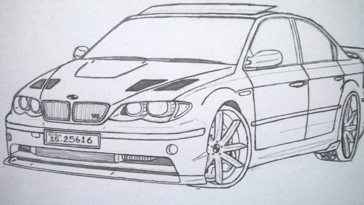 1280x720 The Best Drawing Cars Best Car In The World, Bmw Drawing Pictures