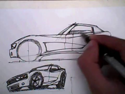 480x360 How To Draw A Car Lesson 1
