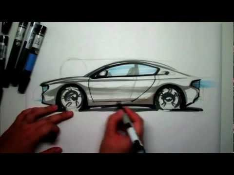 480x360 How To Sketch A Sports Car Side View Using Markers Diy Stuff