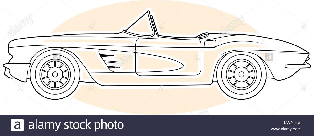 1300x565 Retro Sports Car