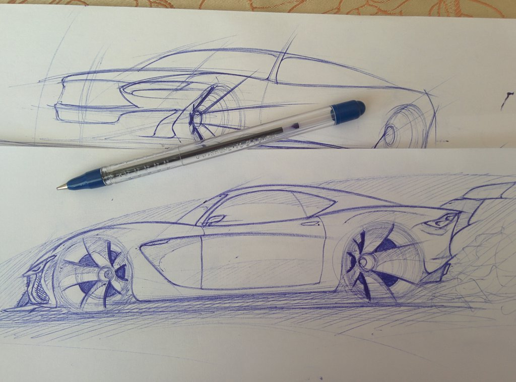 Tesla Car Coloring Pages : Car drawing side view at getdrawings free for personal use