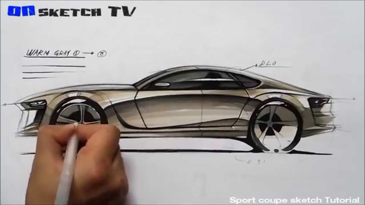 1280x720 Tv Car Sketch Tutorial