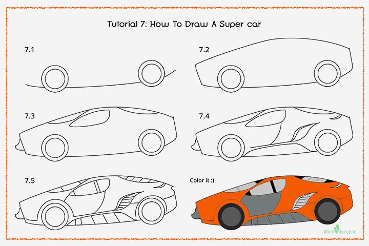 720x480 Gallery Cool Simple Super Cars Drawings,