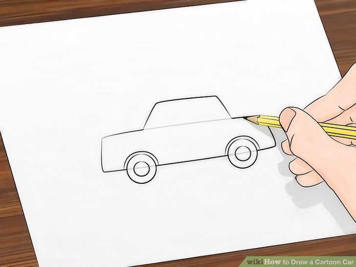 728x546 How To Draw A Cartoon Car 8 Steps (With Pictures)