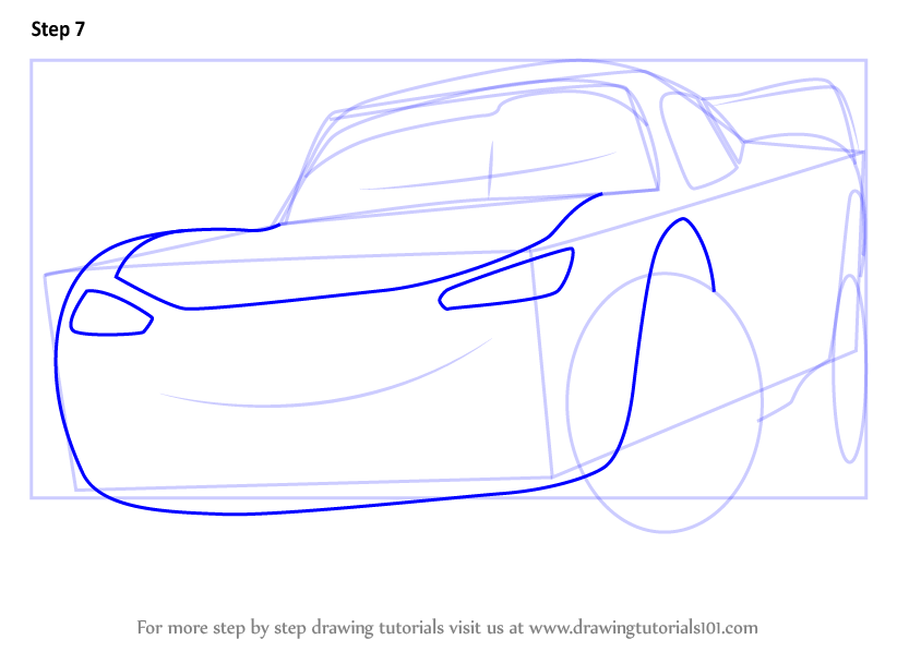 844x598 Learn How To Draw Lightning Mcqueen From Cars 3 (Cars 3) Step By