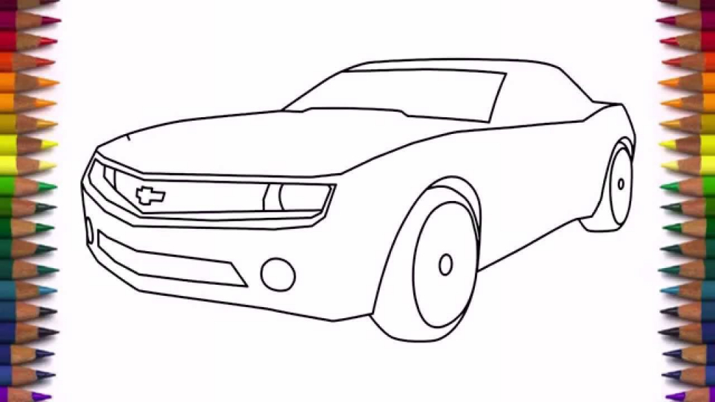 1024x576 Simple Car Drawing For Kids How To Draw A Car Chevrolet Camaro