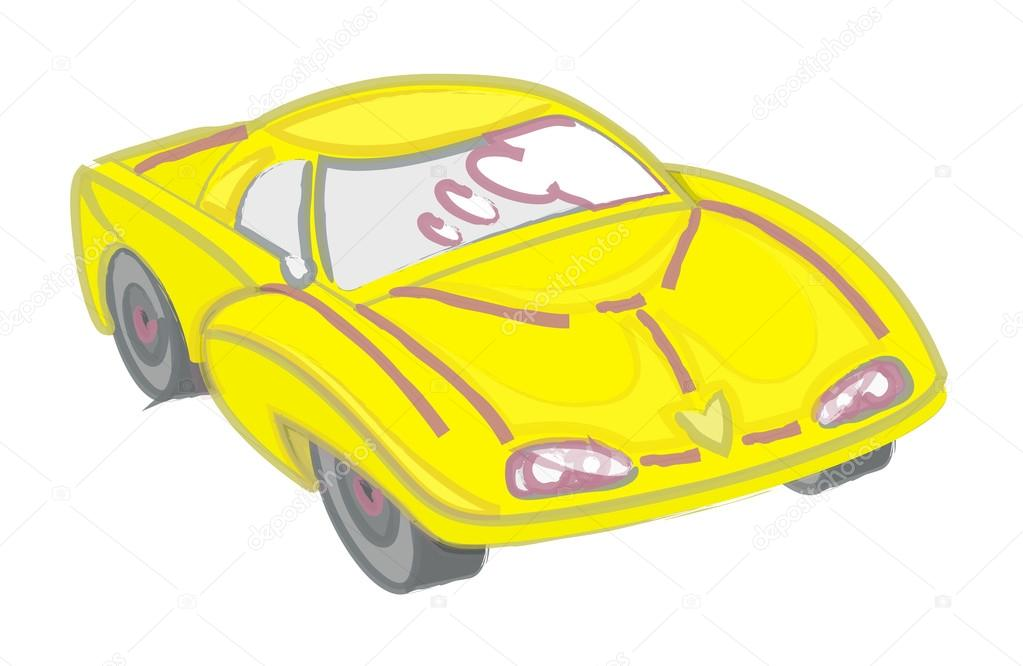 1023x666 Modern Sports Car Drawing Vector Art Stock Vector Baavli