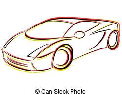 249x194 Vector Car Drawing. Vector Illustration Of Prototype Car Vector