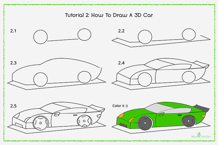 720x480 4 Easy Ways To Draw Cars With Pictures Wikihow Drawing Cars Step