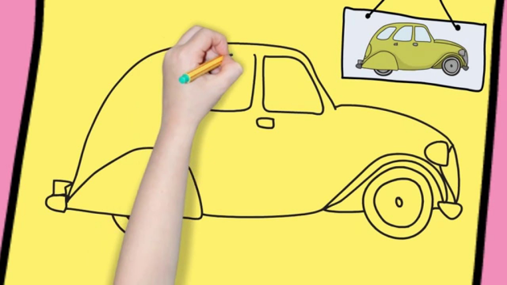 1024x576 Easy Drawing For Children How To Draw A Car Easy For Kids Simple