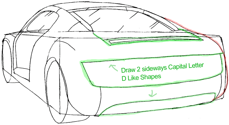 800x436 How To Draw The Back Of A Car With Easy Step By Step Drawing