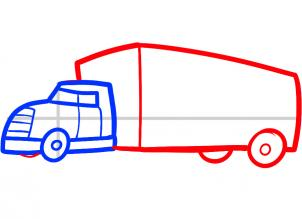 302x219 How To Draw How To Draw A Truck For Kids