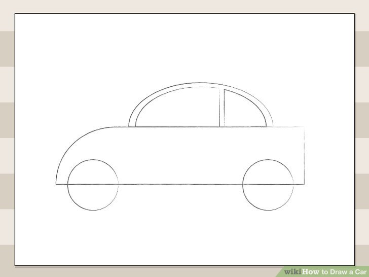 728x546 How To Draw A Car 6 Steps (With Pictures)