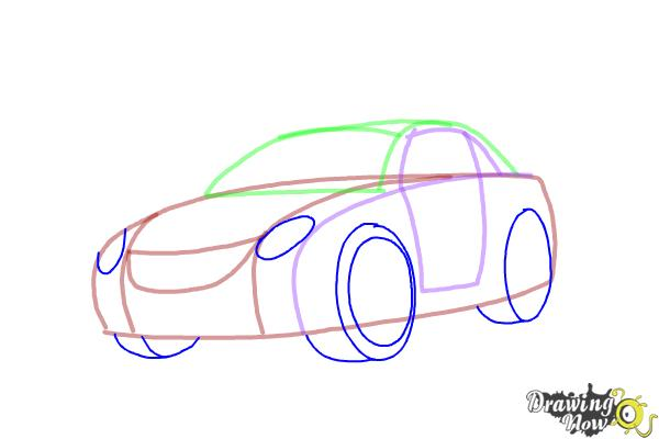 600x400 How To Draw A Car Step By Step