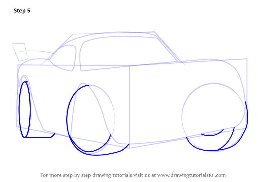 844x597 Learn How To Draw Lightning Mcqueen From Cars (Cars) Step By Step