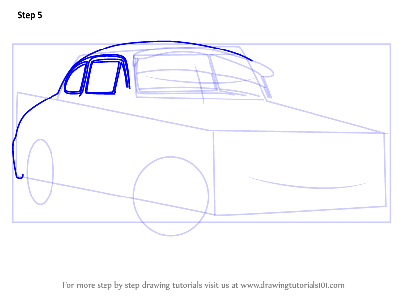 844x598 Learn How To Draw Sheriff From Cars 3 (Cars 3) Step By Step