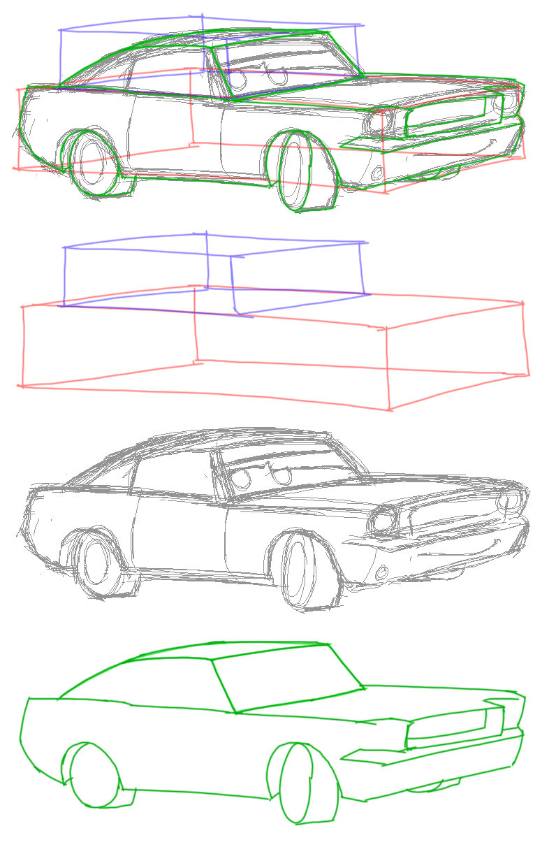 796x1212 Drawing Cars How To Draw A Car Step By Step For Pictures 1