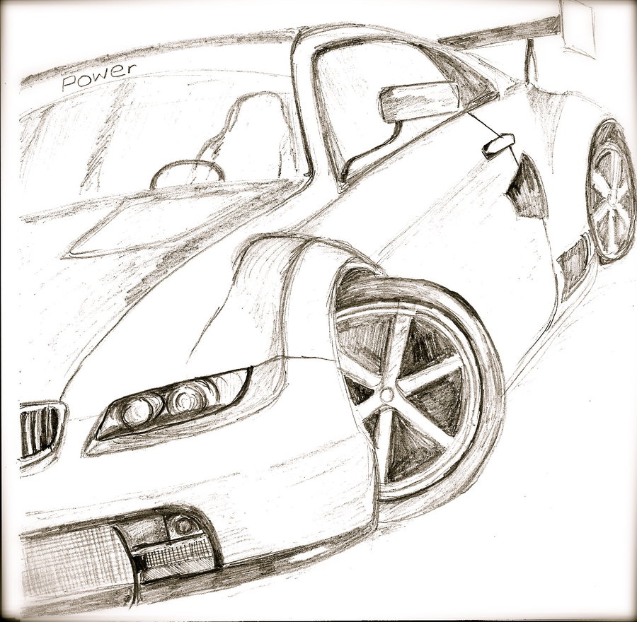 900x880 Sports Car Drawing By Melissagoddard