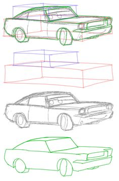 236x359 Drawing Cars How To Draw A Car Step By Step For Pictures 1