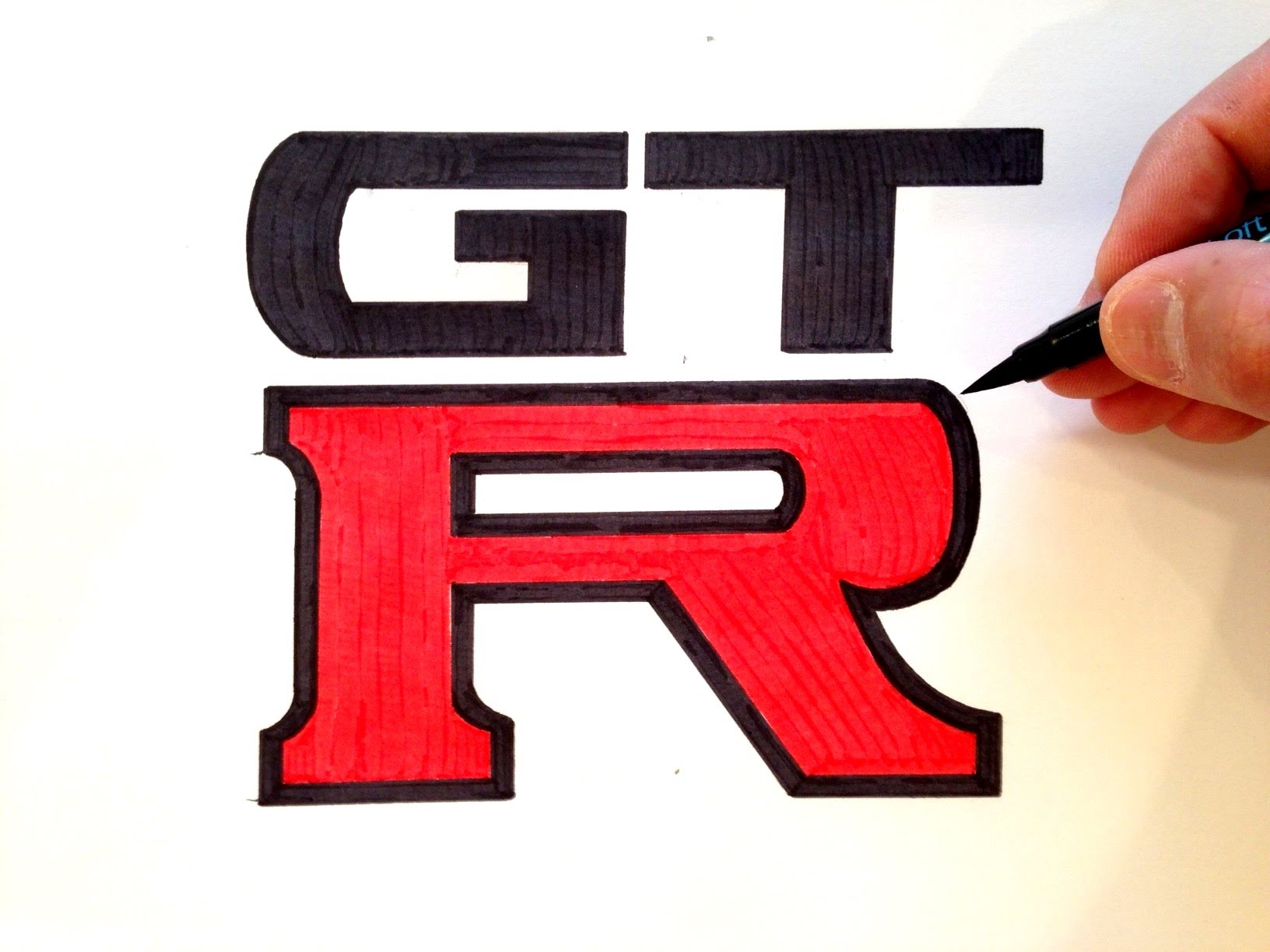 1632x1224 How To Draw The Nissan Gt R Logo
