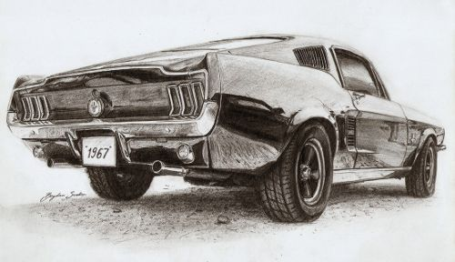 Pencil Drawings Cars