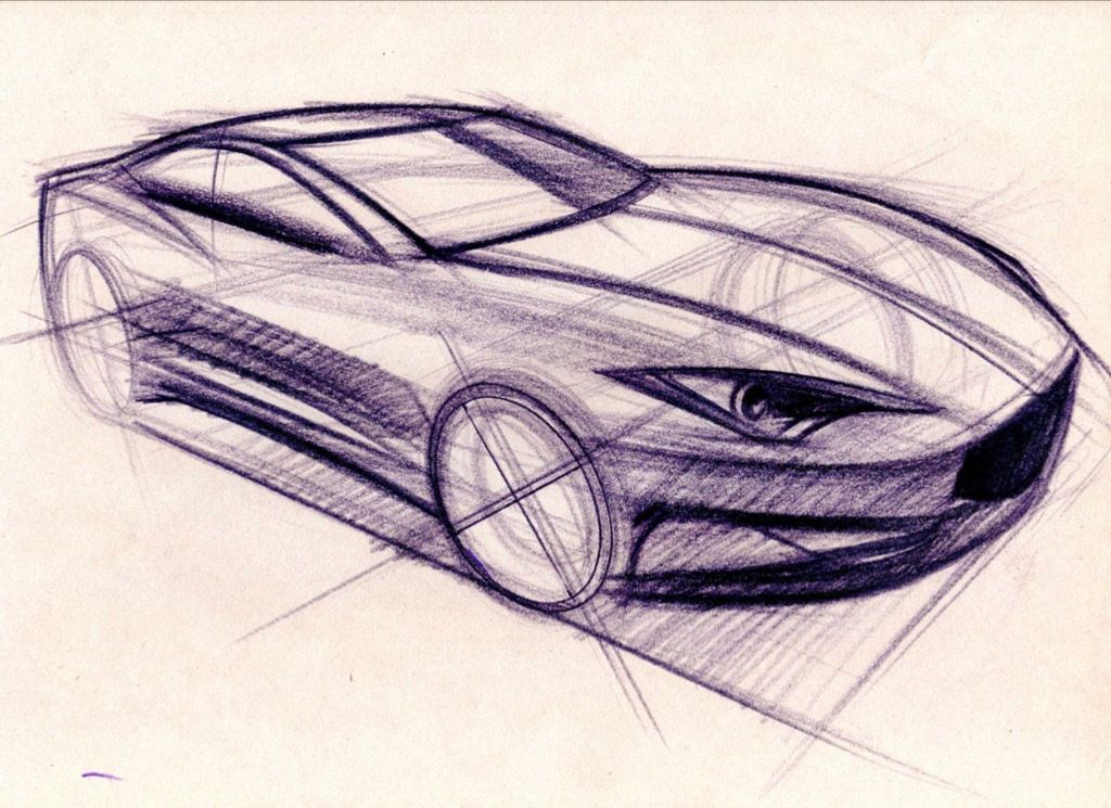 1024x745 Car Perspective Drawing Arts, Crafts Amp Diy