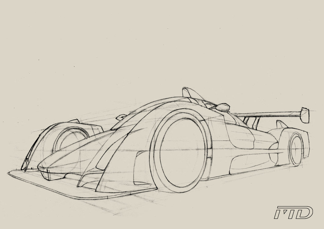 1061x752 Car Sketch In Perspective By Morfiuss
