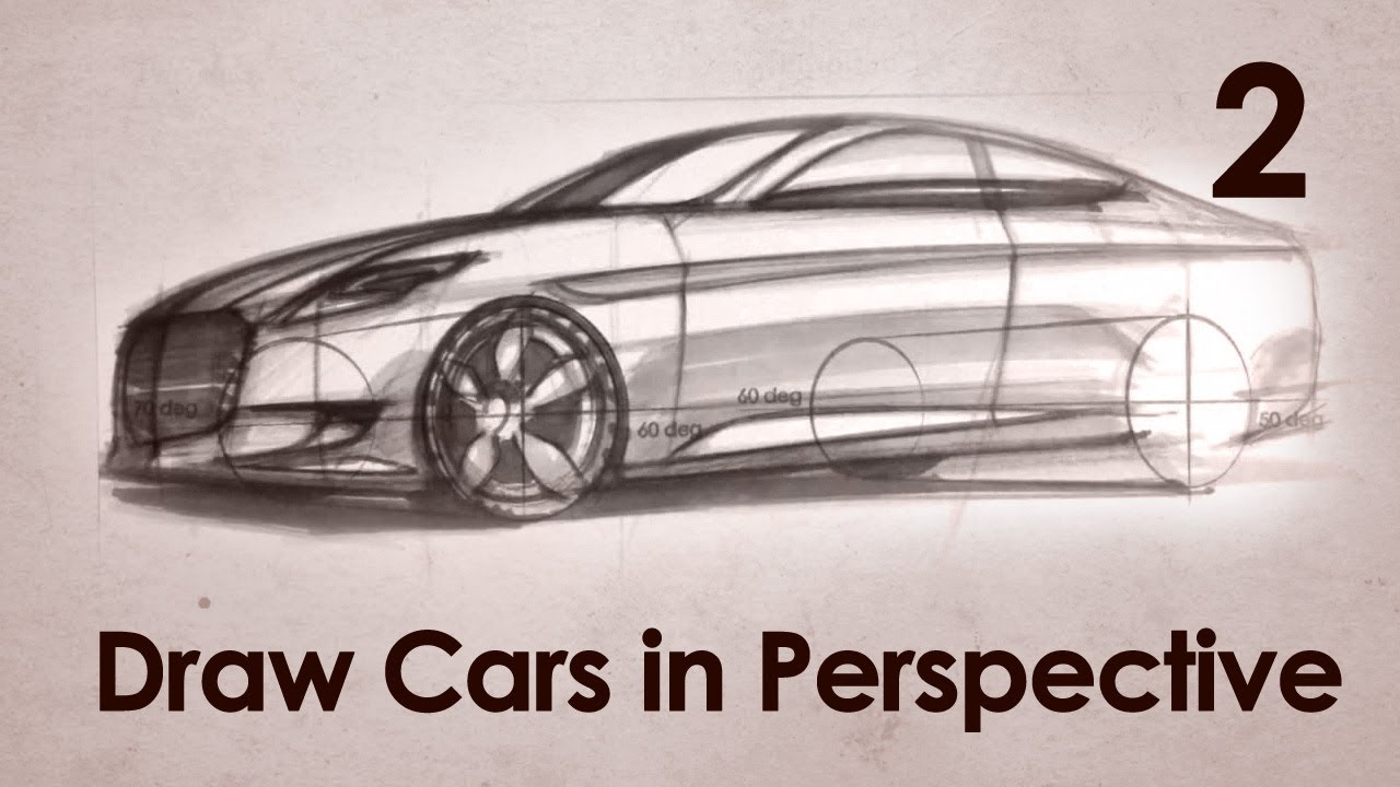 1280x720 How To Draw Cars In Perspective Part 2