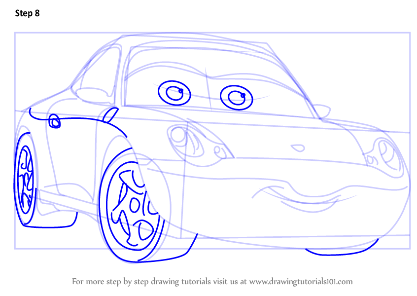 846x600 Learn How To Draw Sally From Cars 3 (Cars 3) Step By Step