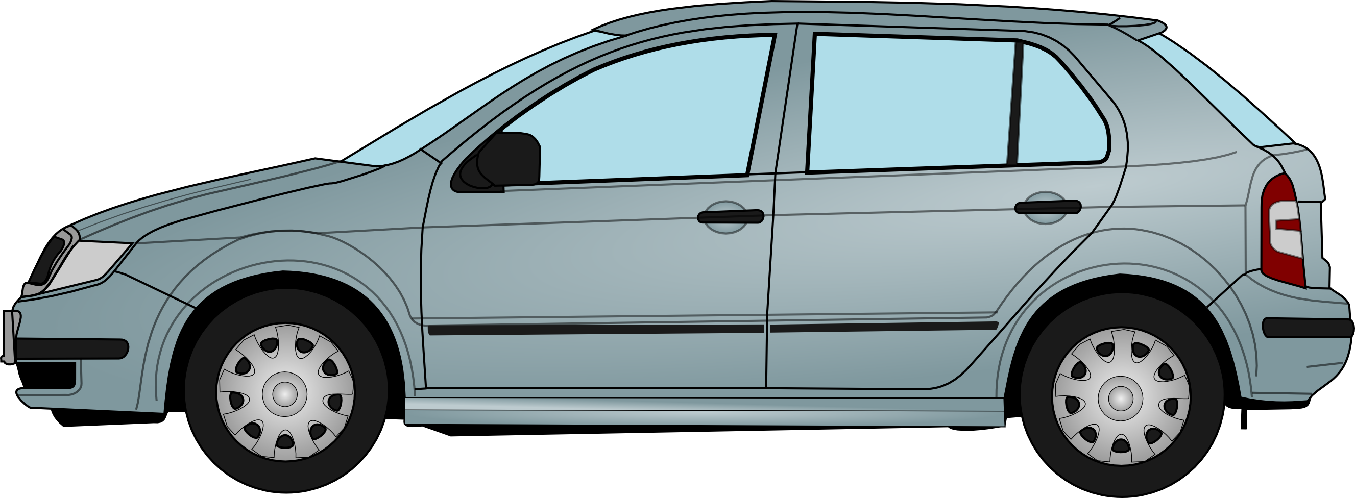 how to draw a car in profile