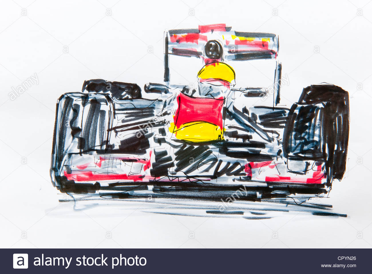 1300x956 Formula One Car, Racing, Drawing By Gerhard Kraus, Kriftel