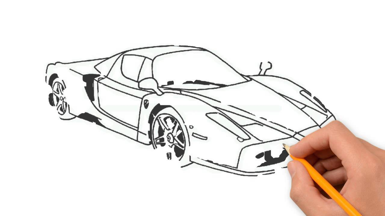 1280x720 Race Car Pencil Things To Draw Step By Step