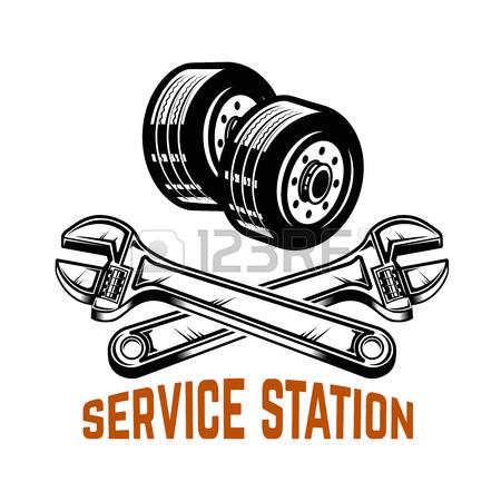 450x450 Garage. Service Station. Car Repair. Design Element For Logo