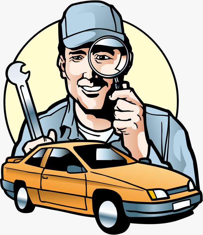 650x750 Repair Work Car Repair, Repairman, Repair Car, Cartoon Png