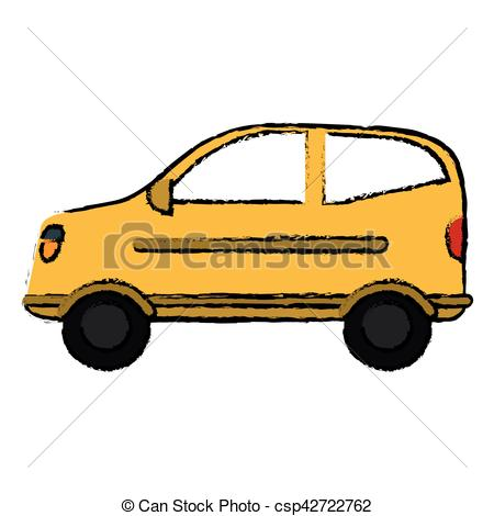 450x470 Drawing Hatchback Car Vehicle Side View Vector Illustration