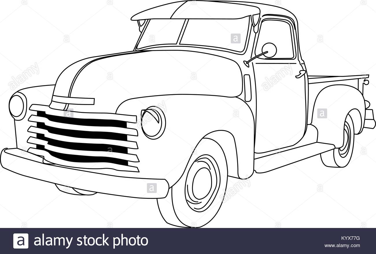 1300x878 Old American Pick Up Truck