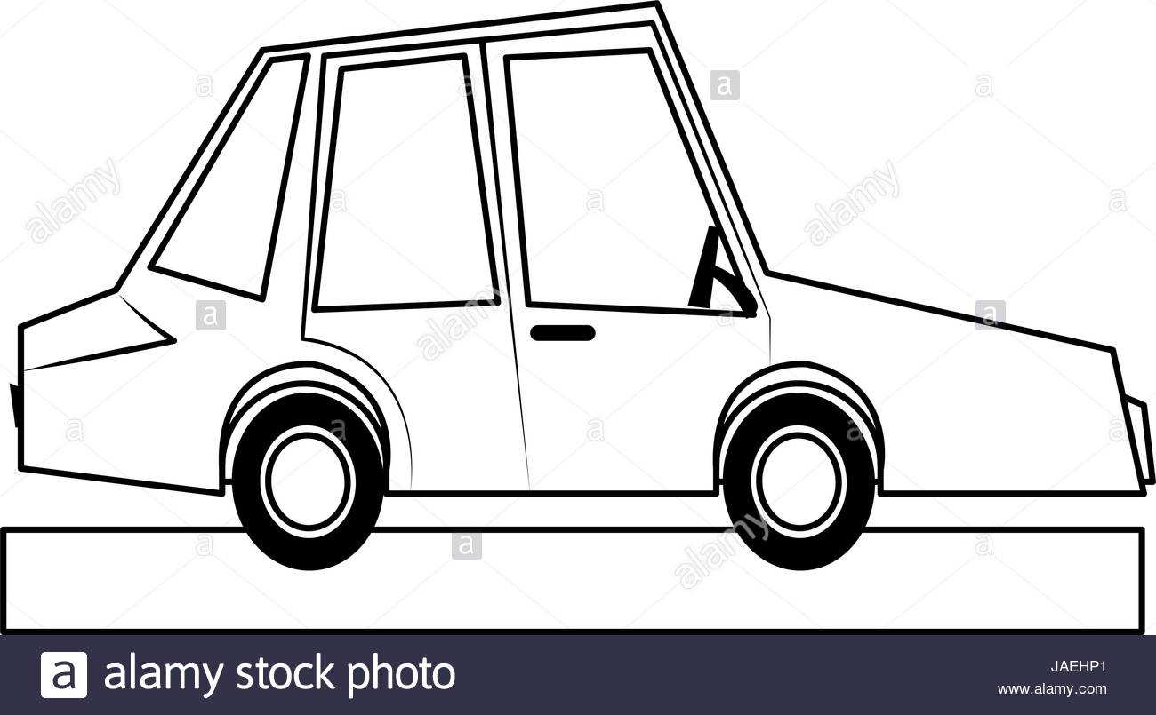 1300x805 Car Sideview Cartoon Icon Image Stock Vector Art Amp Illustration