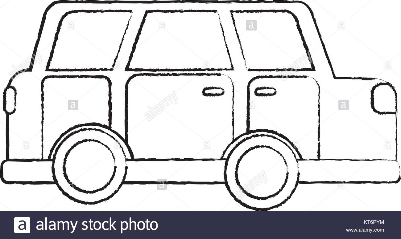 1300x776 Car Sideview Icon Image Vector Illustration Design Black Sketch